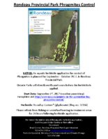 Rondeau Bay – Project Notification